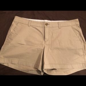 Size 14 khaki shorts (3.5 in inseam) from Old Navy